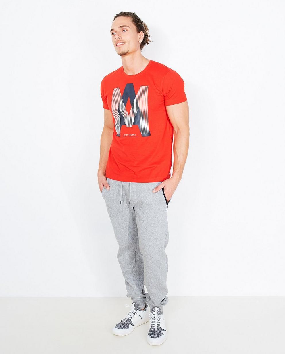 T-shirt met reliëfprint - van biokatoen, I AM - I AM